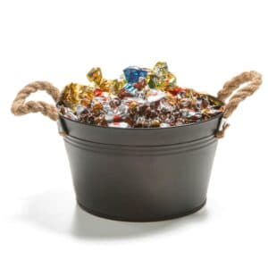 En moderne godterikurv i gammeldags stil