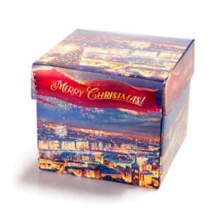 Cube 9 med Merry Christmas innpakking