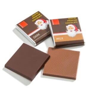Quatre sjokolade med julemotiv